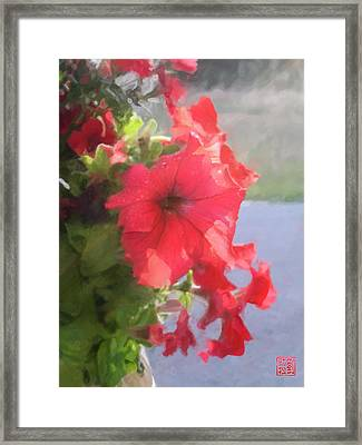 Hong Hua Red Flowers Framed Print