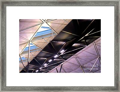 Framed Print featuring the photograph Hong Kong Airport by Randall Weidner