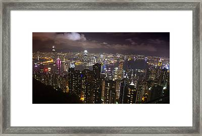 Hong Kong At Night Framed Print