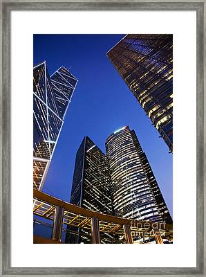 Hong Kong Buildings Framed Print