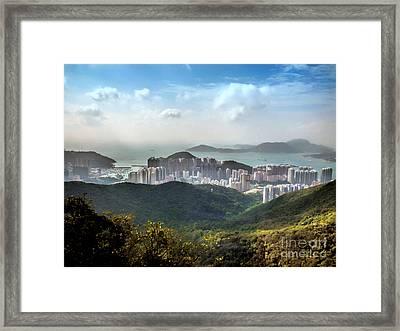 Hong Kong From Victoria Peak Framed Print by Lynn Bolt
