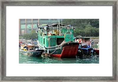 Hong Kong Harbor 10 Framed Print by Randall Weidner