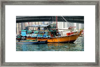 Hong Kong Harbor 12 Framed Print by Randall Weidner