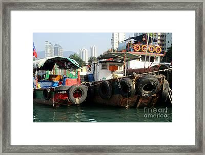 Hong Kong Harbor 16 Framed Print by Randall Weidner