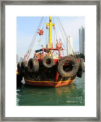 Hong Kong Harbor 17 Framed Print by Randall Weidner