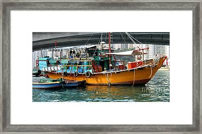 Hong Kong Harbor 20 Framed Print by Randall Weidner