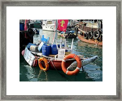Hong Kong Harbor 21 Framed Print by Randall Weidner