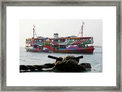 Hong Kong Harbor 25 Framed Print by Randall Weidner