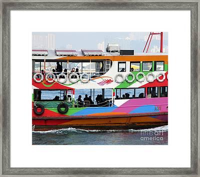 Hong Kong Harbor 3 Framed Print by Randall Weidner