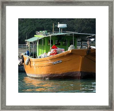 Hong Kong Harbor 6 Framed Print by Randall Weidner
