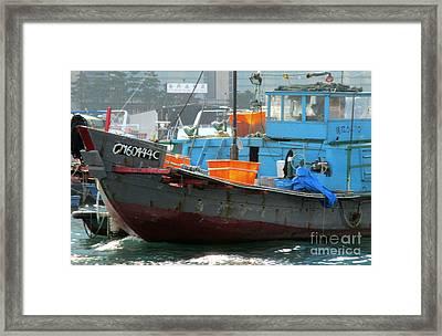 Hong Kong Harbor 7 Framed Print by Randall Weidner
