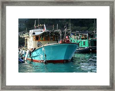 Hong Kong Harbor 8 Framed Print by Randall Weidner