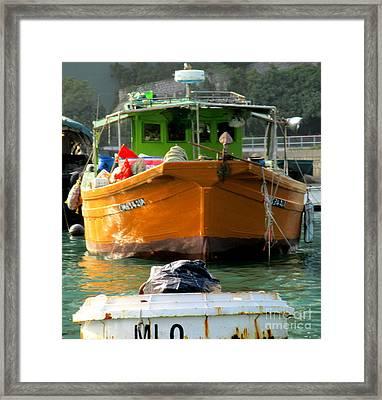 Hong Kong Harbor 9 Framed Print by Randall Weidner