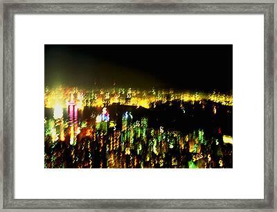 Hong Kong Harbor Abstract Framed Print by Brad Rickerby