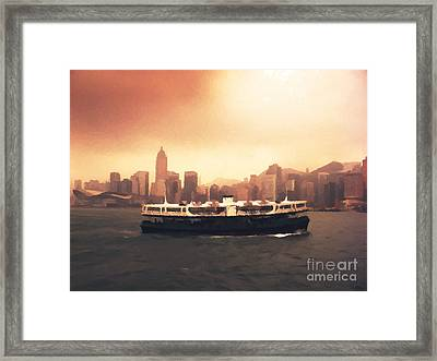Hong Kong Harbour 01 Framed Print