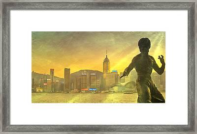 Hong Kong Lights Framed Print by Loriental Photography