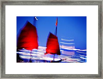 Hong Kong Lights Framed Print by Ray Laskowitz - Printscapes