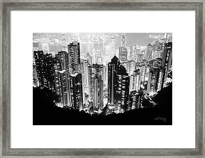 Hong Kong Nightscape Framed Print