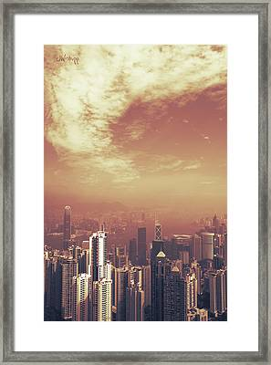 Framed Print featuring the photograph Hong Kong Portrait by Joseph Westrupp