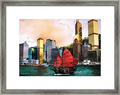 Hong Kong Framed Print by V  Reyes