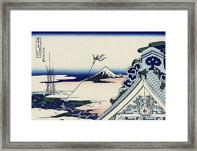 Honganji Temple At Asakusa In The Eastern Capital Framed Print by MotionAge Designs