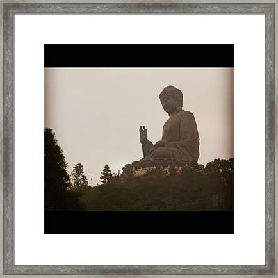 Tian Tan Buddhah - Hong Kong Framed Print