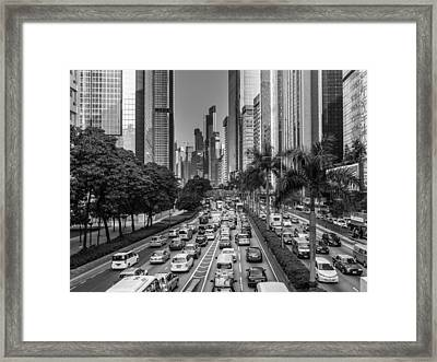 Hongkong Traffic Framed Print by Philipp Weindich