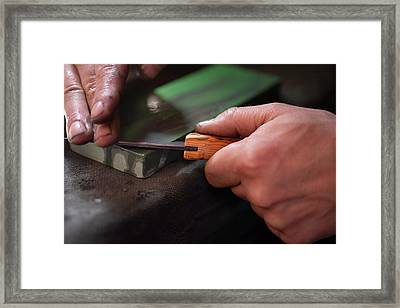 Honing The Blade 4 Framed Print