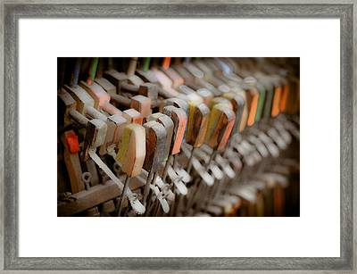 Honky Tonk Piano Keys Framed Print by Keith Sanders