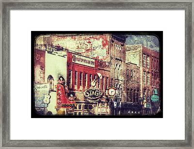 Honky Tonk Row - Nashville Framed Print