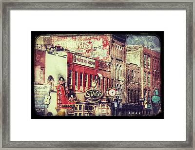 Honky Tonk Row - Nashville Framed Print by Debra Martz