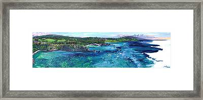 Honolua Bay Cliffs Framed Print by Joseph Demaree