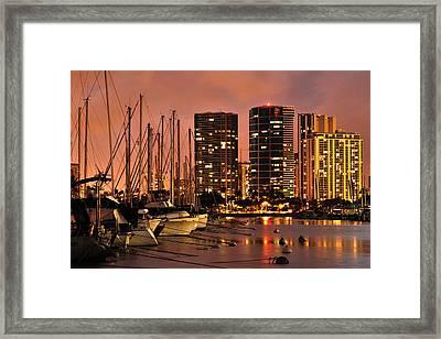 Honolulu Framed Print by Don Wolf