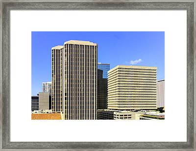 Honolulu From Roof Top Framed Print