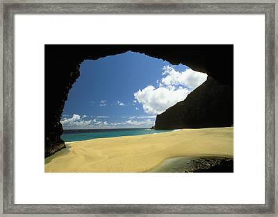Honopu Beach Framed Print by Peter French - Printscapes