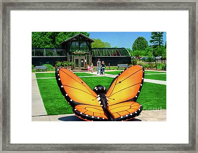 Honor Heights Butterfly House Framed Print by Tamyra Ayles