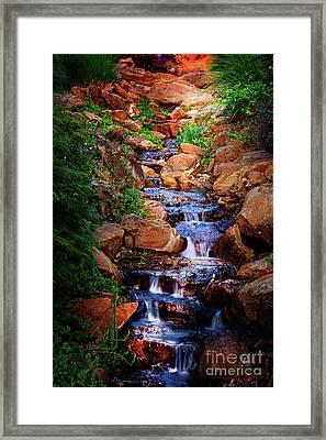 Honor Heights Park Hidden Stream Framed Print by Tamyra Ayles