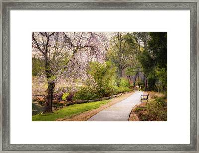 Framed Print featuring the photograph Honor Heights Pathway by James Barber