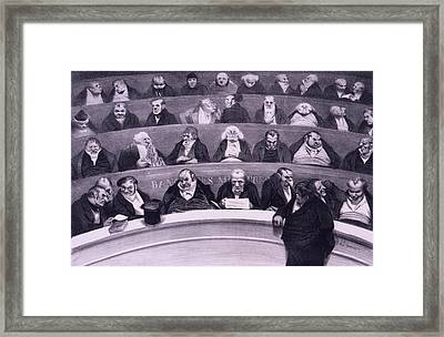 Honore Daumier 1808-1879, Satirical Framed Print by Everett