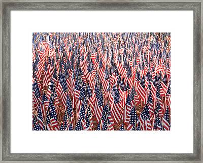 Honoring Those Who Have Sacrificied All Framed Print by Carol Groenen