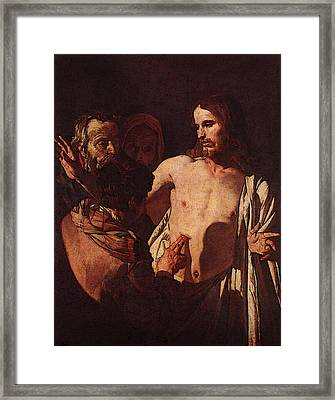 Honthorst Gerrit Van The Incredulity Of St Thomas Framed Print