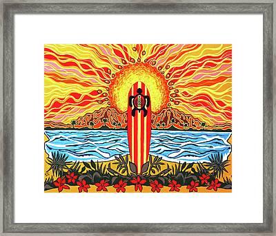 Honu Surf Framed Print