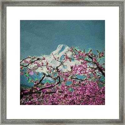 Hood Blossoms Framed Print