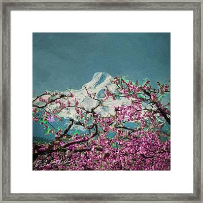 Framed Print featuring the digital art Hood Blossoms by Dale Stillman
