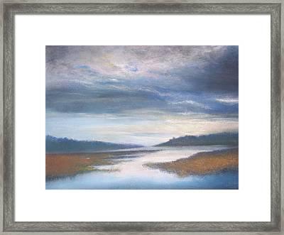 Hood Canal - High Tide Framed Print by Jackie Bush-Turner