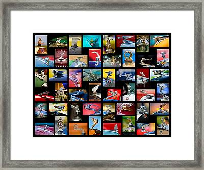 Hood Ornament Art -11 Framed Print by Jill Reger