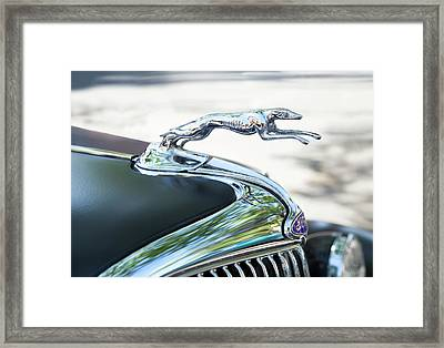 Hood Ornament Ford Framed Print