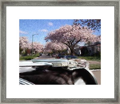 Hood Ornament On Route 66 Framed Print
