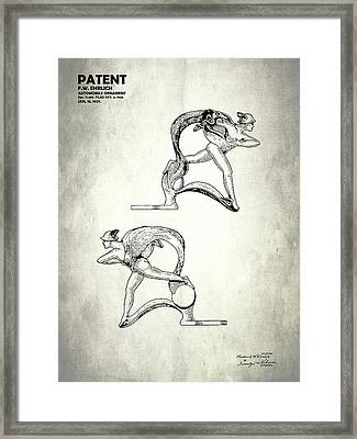 Hood Ornament Patent 1927 Framed Print by Mark Rogan