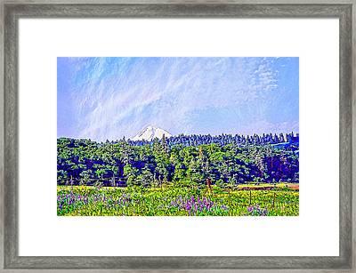 Hood River Oregon - Spring Time In The Hood Framed Print